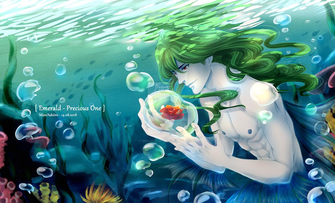 [OC] Merman Emerald res by MizuYuKiiro