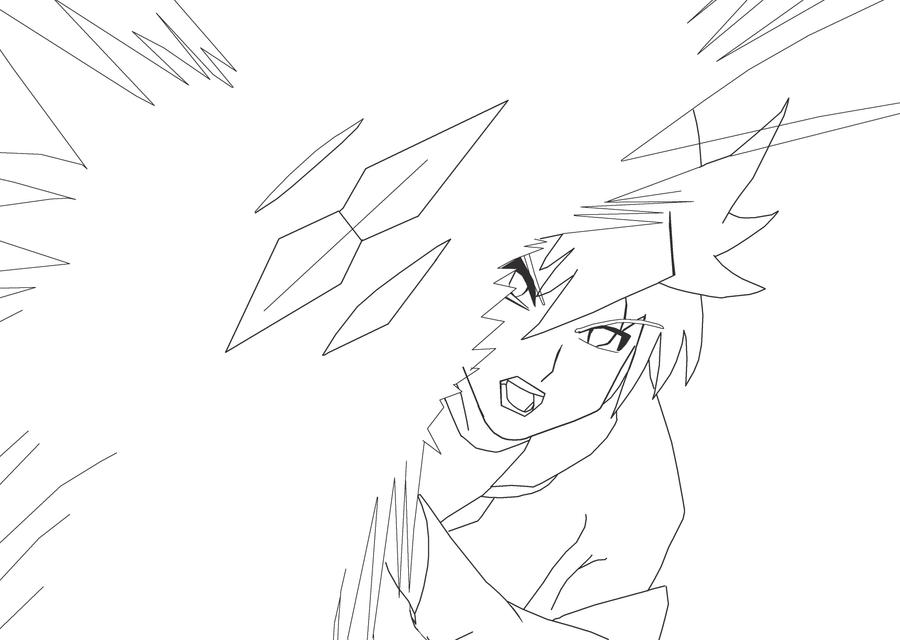 Kazuki Muto Lineart by DeadlyObsession