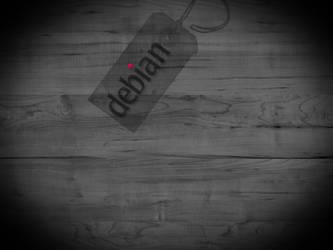 Debian Linux Wallpaper by cagwait
