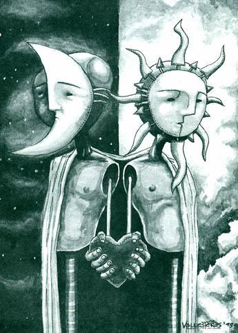 Sun and Moon by bawayan