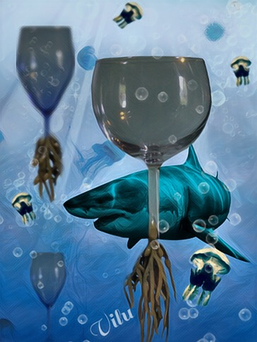 Bubble Shark by vilucm