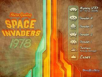 Space Invaders Retro by DeepBlueNine