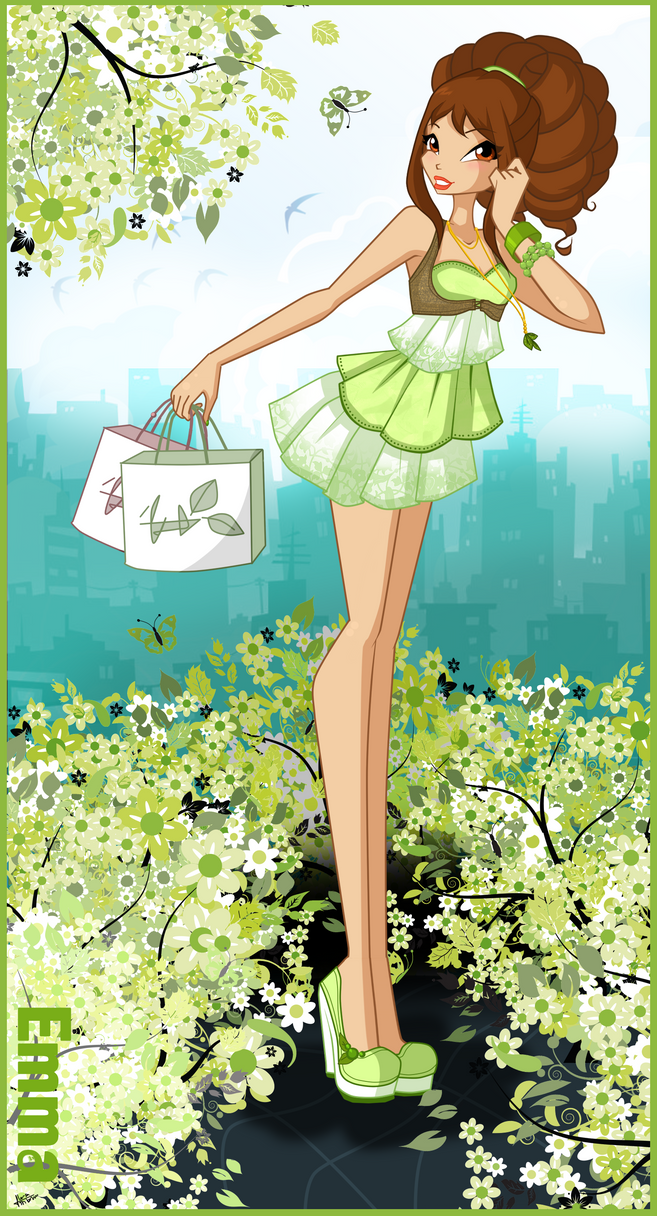 C: Emma city girl by florainbloom