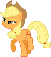Applejack Eating an Apple by RyantheBrony