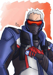 Overwatch : Soldier 76 by Israel42
