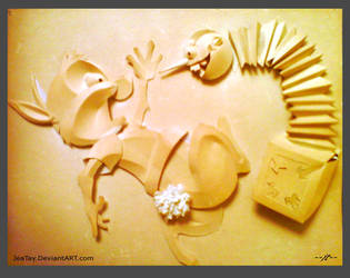 Bunny's BD - Cut Paper Relief by JeaTay