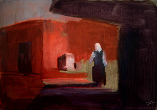 Shadows and Woman Walking