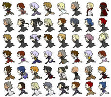 All of the Characters in Kingdom Hearts~ by AeroxVentusxYuni