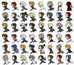 All of the Characters in Kingdom Hearts~