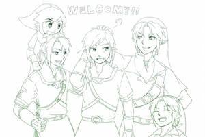 Welcome New Link! by AeroxVentusxYuni