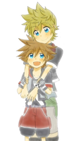 Ventus and Sora Render by AeroxVentusxYuni