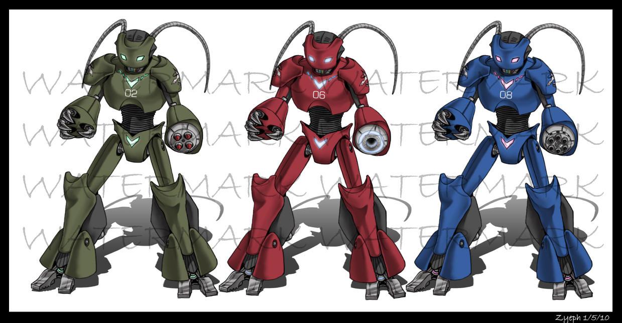 Robots Robots Robots by Zyephens-Insanity
