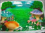 Wonderland-Inspired cake