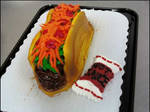Cupcake Taco with sauce