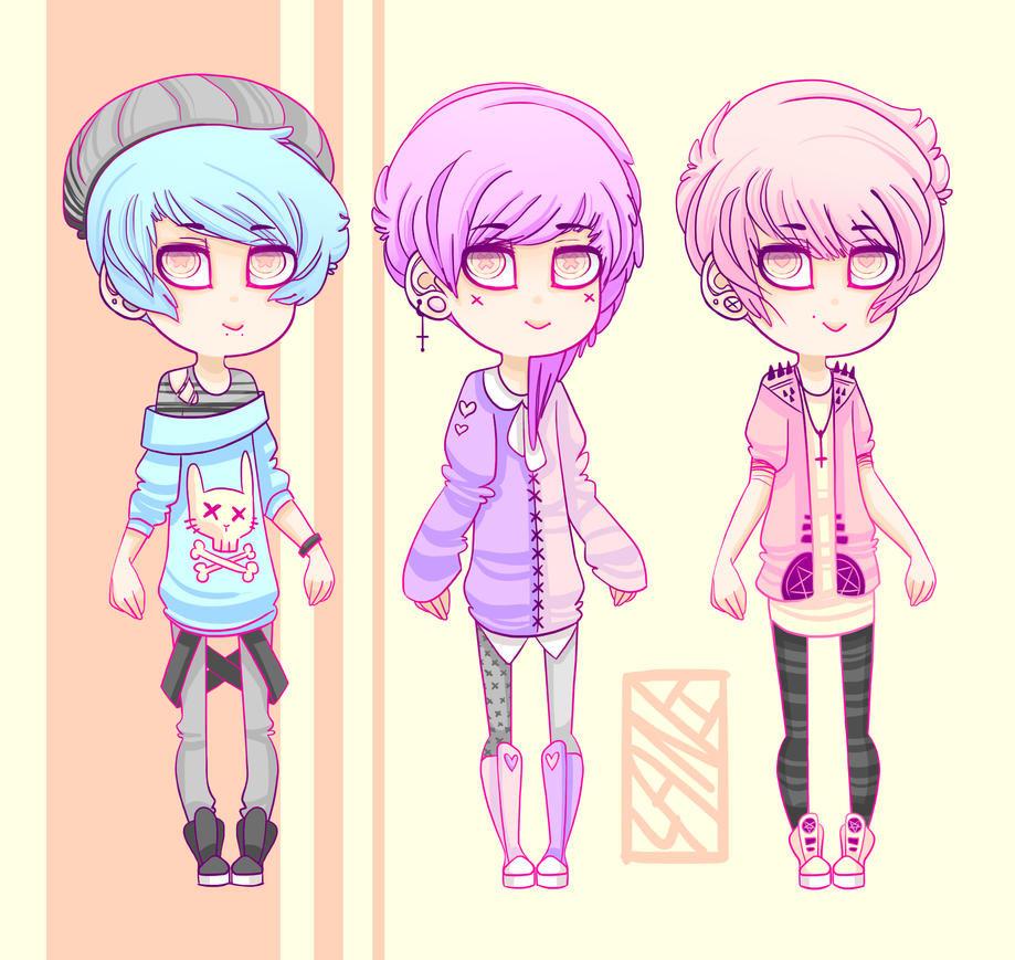 Pastel Goth Adopts (CLOSED) by L4NI on DeviantArt