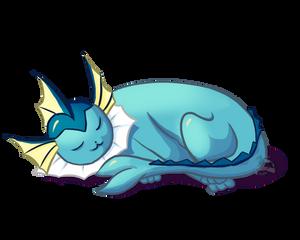 sleeping Vaporeon