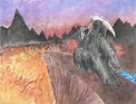 Grim Reaper Watercolor Practice