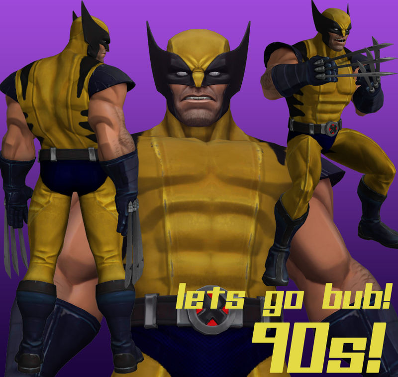 Wolverine 90s (Retexture) for xnalara by karadaniano