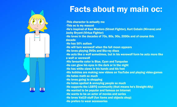 20 facts about my main oc