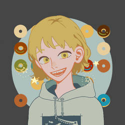 Me in Donuts background (Picrew)