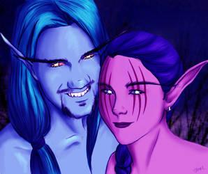 Night Elf Couple