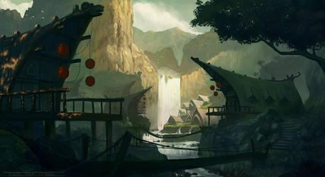 WaterFall Village by KlausPillon