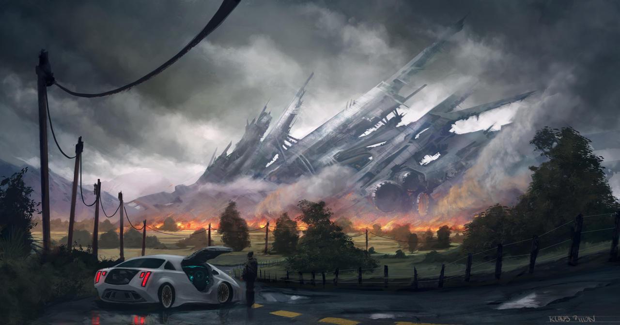Spaceship Crash by KlausPillon