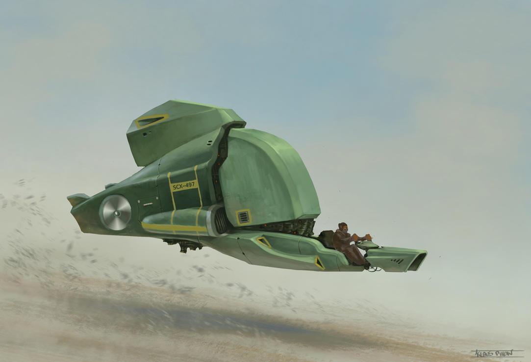Spaceship concept by KlausPillon