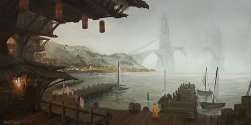 Bridge City Island by KlausPillon