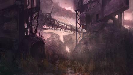 The crane lost world by KlausPillon