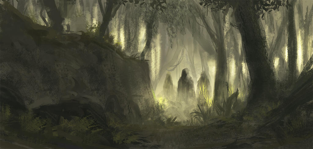Ghost(s) in the forest by KlausPillon