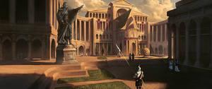 Acaratus Concept Art - Paradus Palace - by KlausPillon