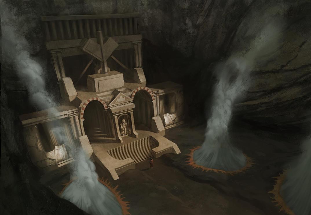 Dwarf Temple by KlausPillon