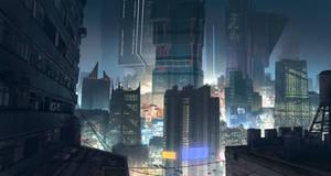 Cyberpunk CityScape by KlausPillon
