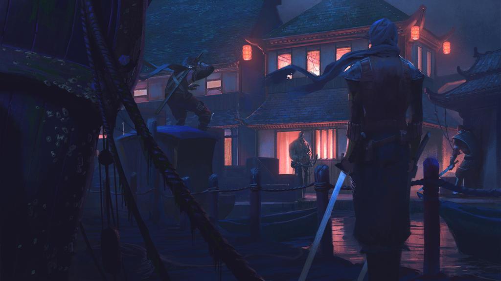 Docks Evil Fight by KlausPillon