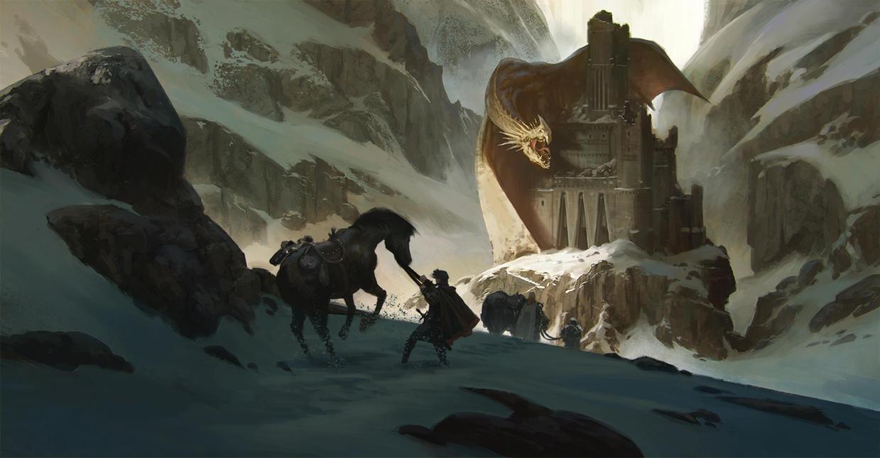 Dragon's Castle by KlausPillon