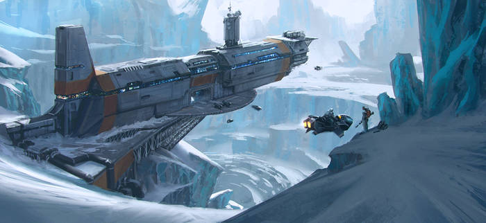 Big Hunting Game on an ice planet