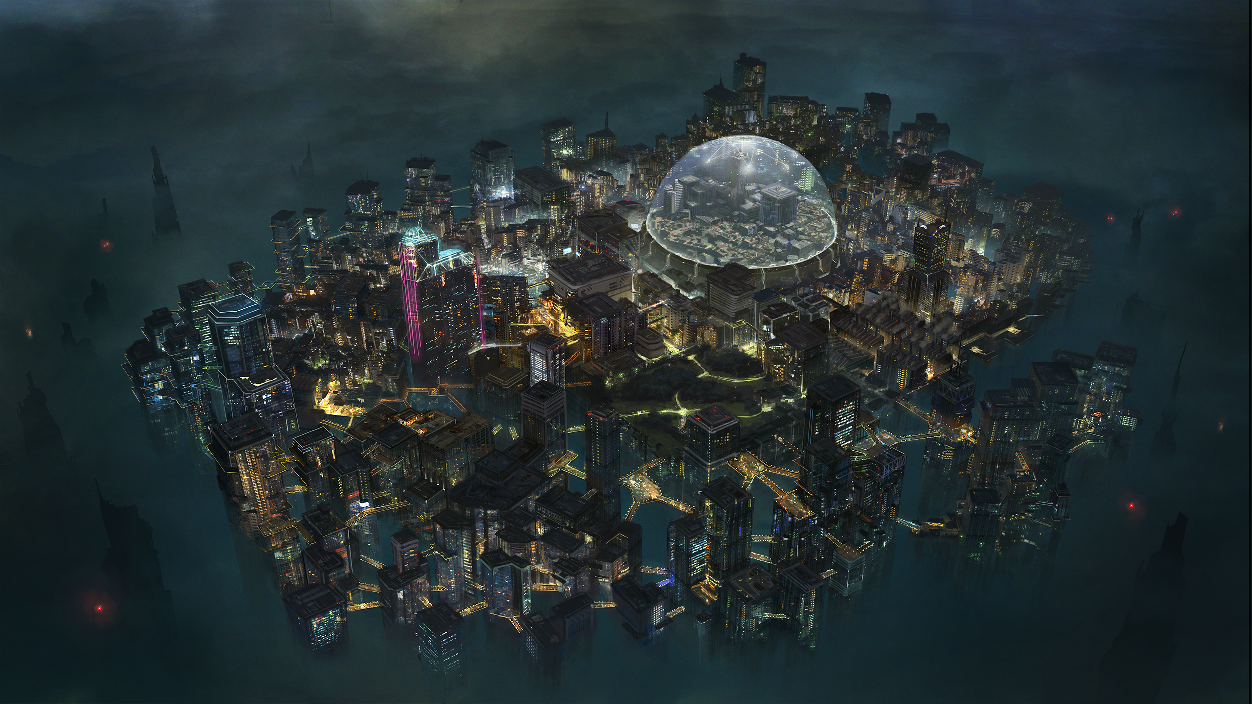 Pictures of Cyberpunk City Map - #rock-cafe