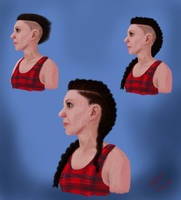 3 Hair Styles Portrait