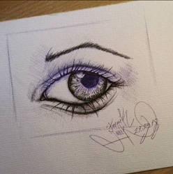 The Eye (2018) -pen drawing by basgroll