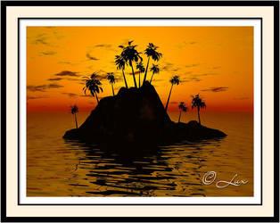 Island Sunset by LaxmiJayaraj