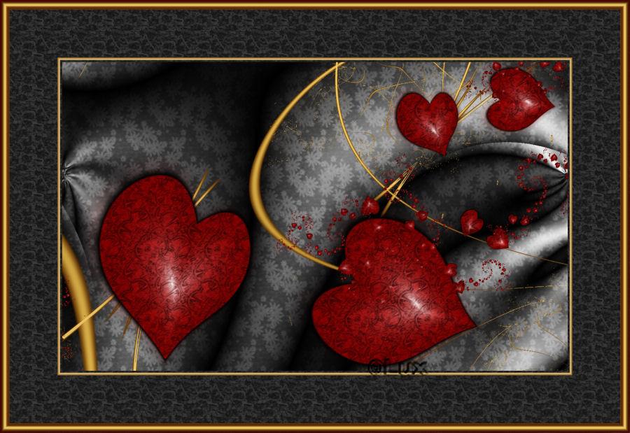 Red Hearts by LaxmiJayaraj