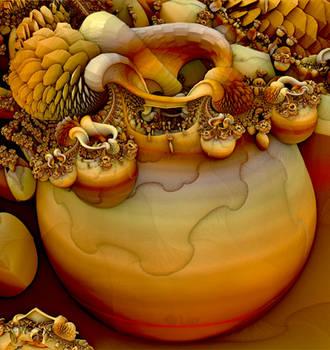 Pot of Fractals - Happy Thanksgiving... by LaxmiJayaraj