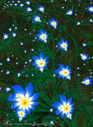 Blue Flowers by LaxmiJayaraj