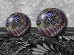 Crystal Globe...Marbles... by LaxmiJayaraj