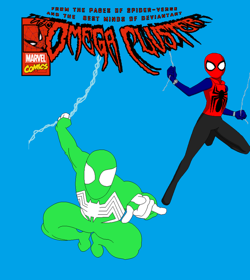 Spider and Spider-Man Crossover Cover by Viewer934