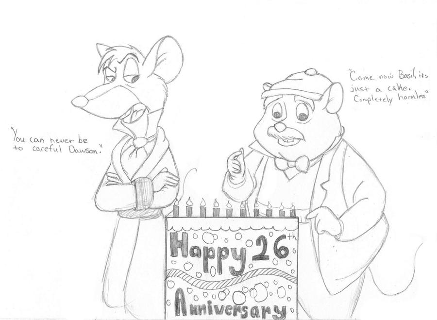26th Wedding Anniversary Gift: Happy 26th Anniversary Great Mouse Detective By Tiger