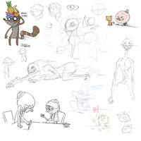 Assorted sketches by LordofOoo