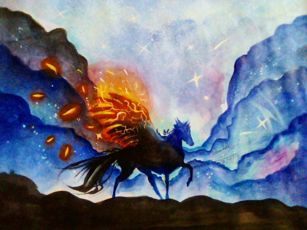 Blue Pegasus  by urbi-san