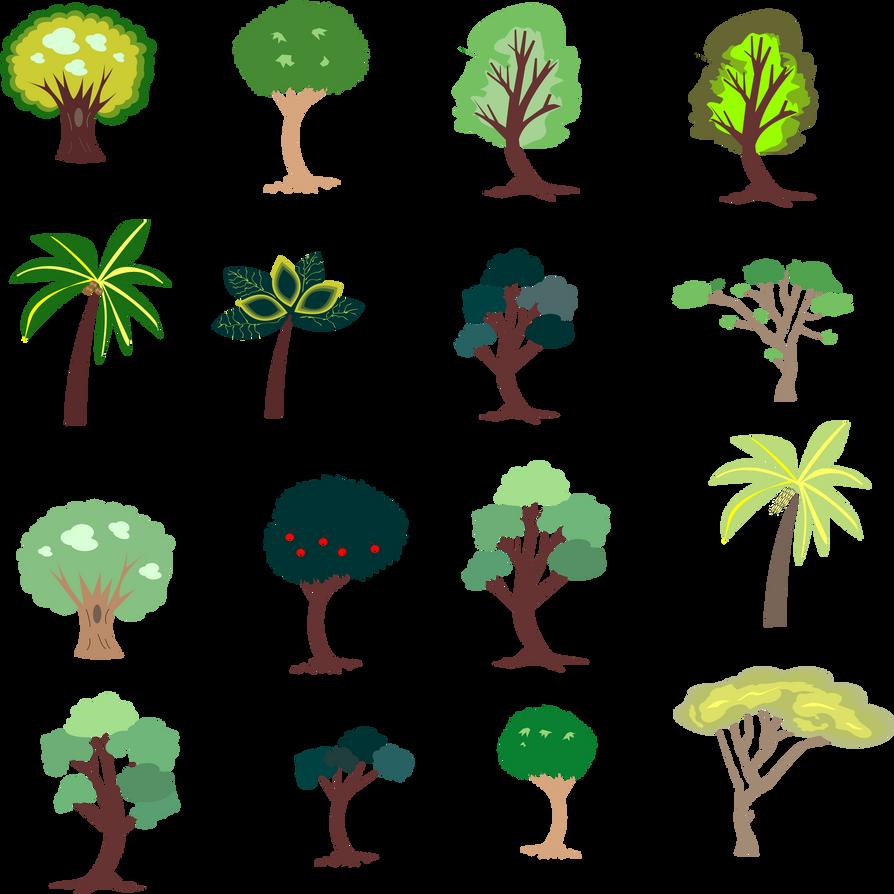 Beroemd Trees (2d game art sheet) by DomitianusTheGreat on DeviantArt HL95